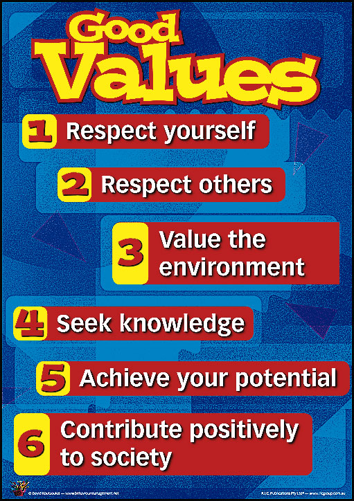 5 important moral values The top 10 work values it's important to know it is the responsibility of each person to use their own individual sense of moral and ethical.