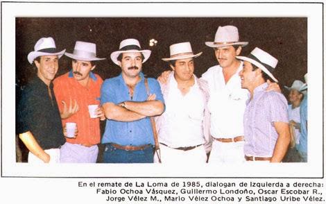 Fabio Ochoa, Guillermo Londoño, Óscar Escobar, Jorge Vélez, Mario Vélez, Santiago Uribe