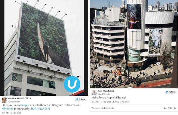 Apple Pajang Billboard Raksasa Pamerkan Hasil Foto iPhone 6