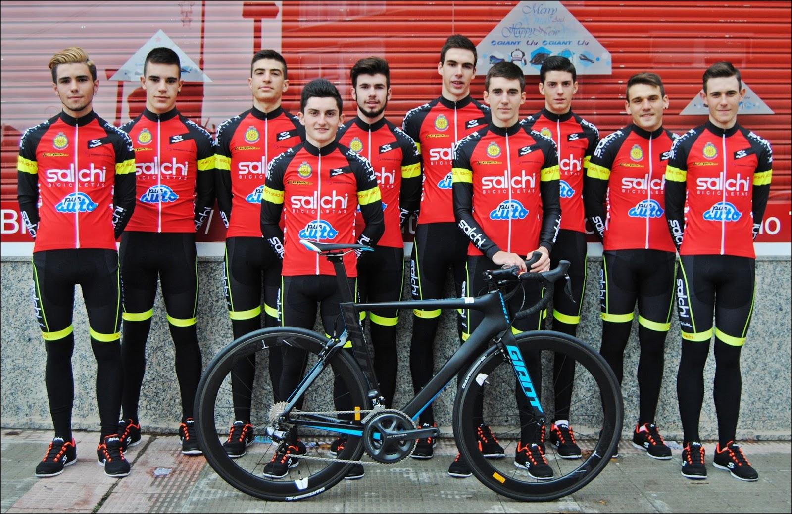 salchi bicicletas nuevo equipo ciclista junior en la