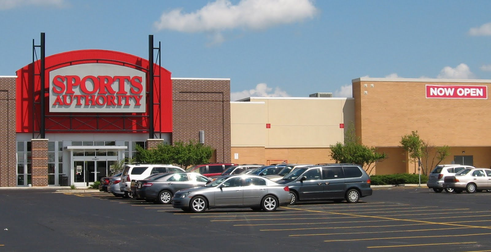 Sports Authority is holding its grand opening on Saturday.