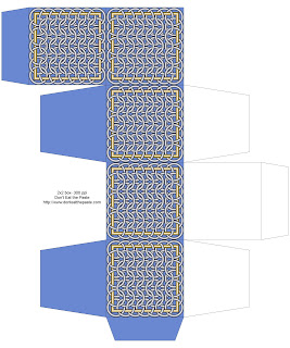Chainmail inspired printable box- blue