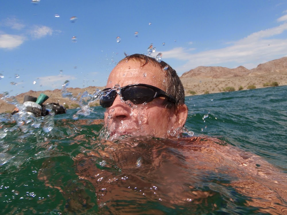 Swimming Lake Mohave July 2012