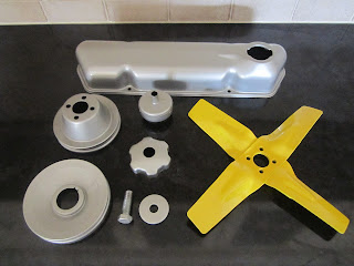 Painted engine parts B20B - Volvo 122S
