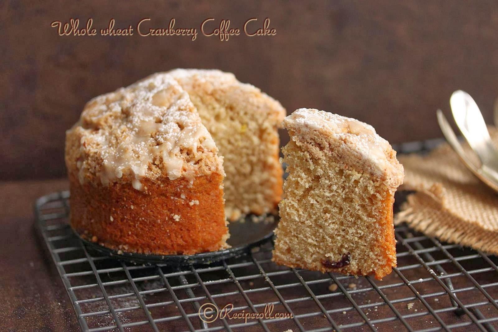 Whole wheat Cranberry Coffee Cake | Cranberry Orange yogurt cake ...