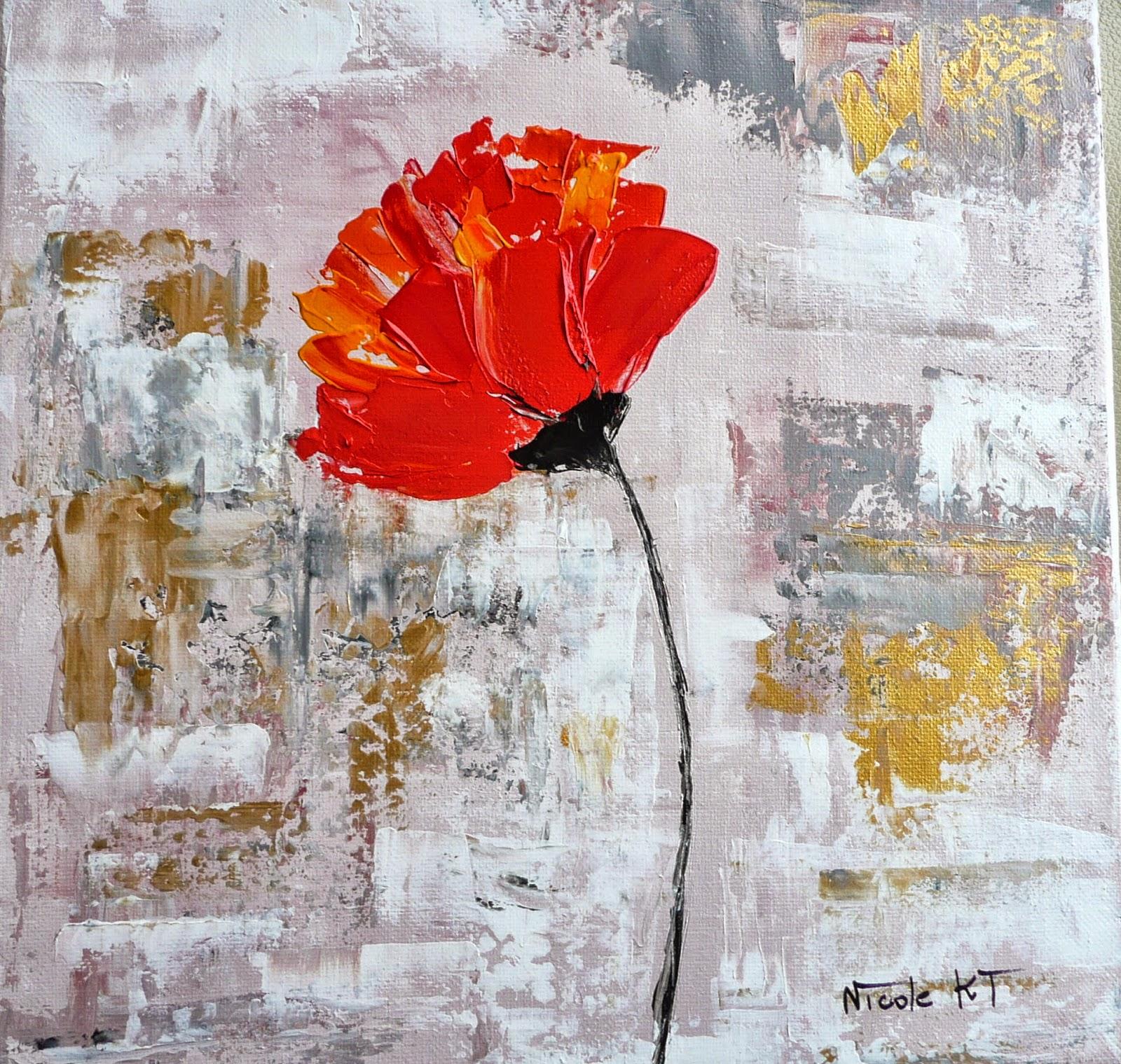 Nicole catt artiste peintre - Peindre sur peinture acrylique ...