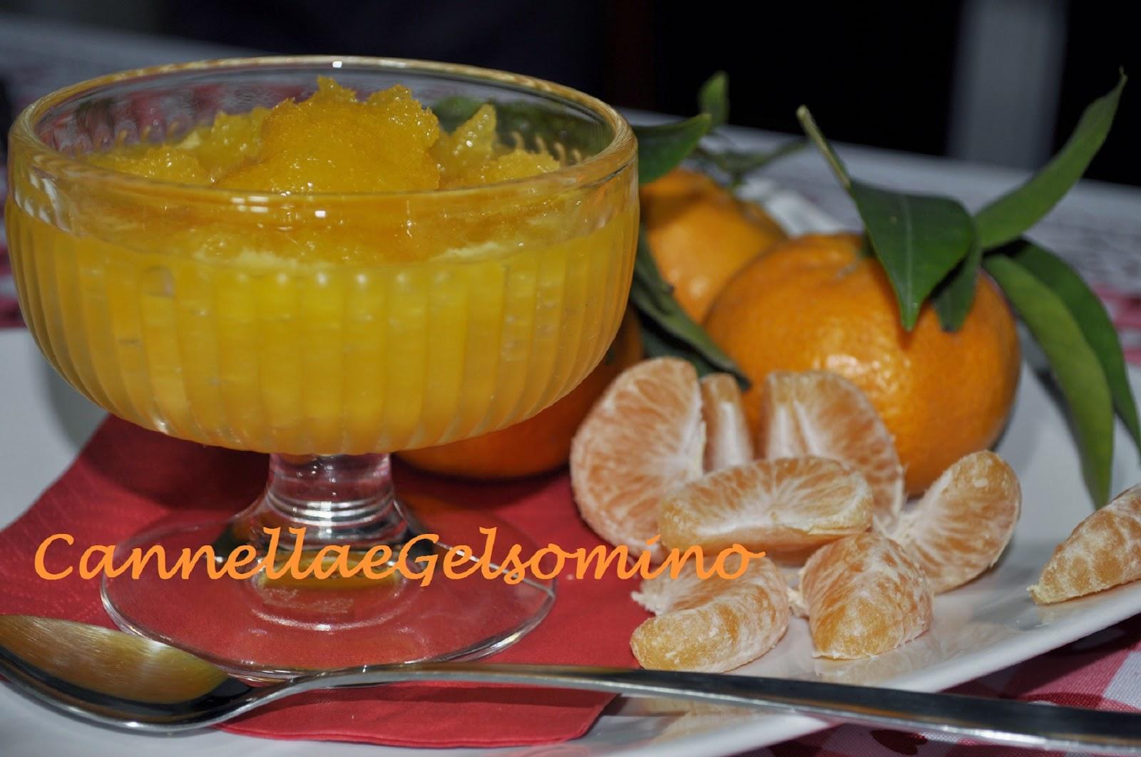 granita di mandarini