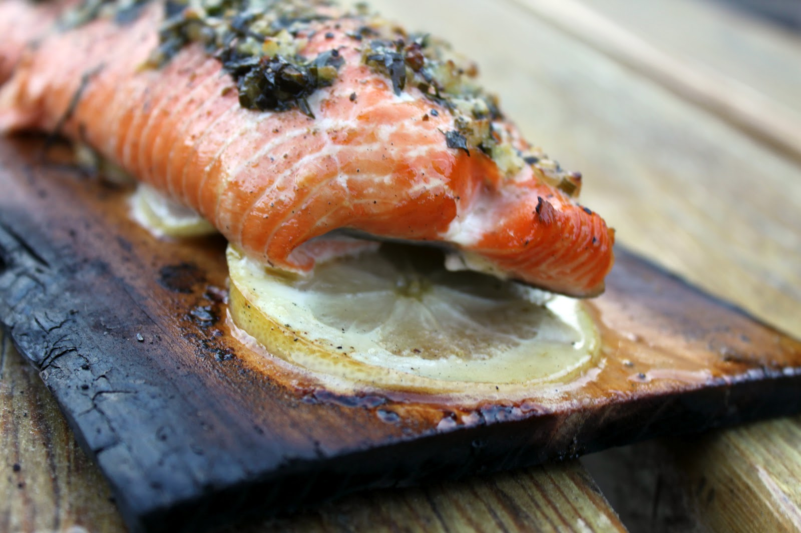 How To Bake Salmon On A Cedar Plank By Rachel Aaron Salmon I'm Going To  Buy A Few More Planks Because This Was A Fun Way