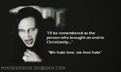 Marilyn Manson illuminati symbols and signs