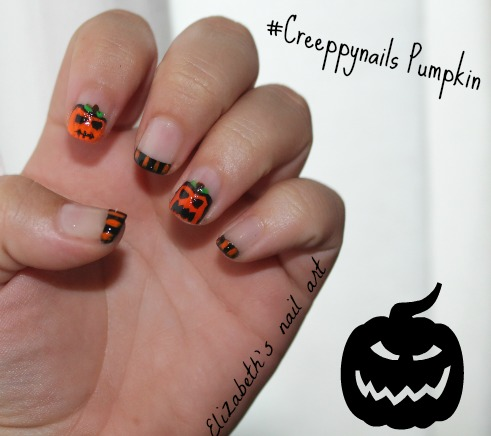 Nail Art pumpkin