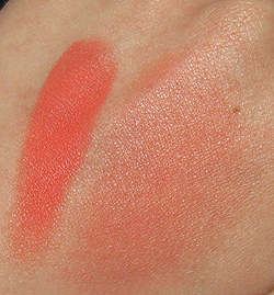 mac optimistic orange swatches