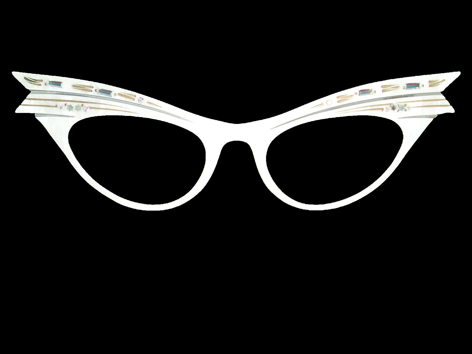 Transparent Frame Eyeglasses : Vintage Eyeglasses Frames Eyewear Sunglasses 50S: Vintage ...