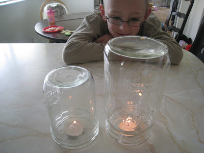 candle in a jar science of air