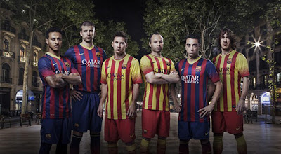 Les nouveaux maillots Barcelone 2013-2014