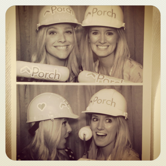 Casey and Bridget in Porch Photo Booth