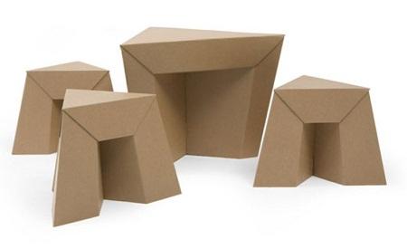 Muebles con papel y cart n reciclado - Muebles de papel ...