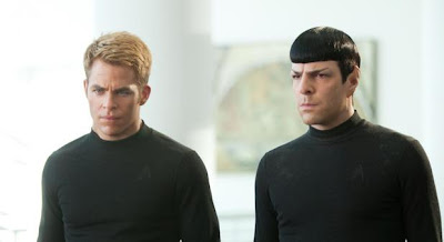 Chris Pine and Zachary Quinto in the movie 'Star Trek Into Darkness'