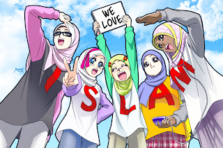 Gambar Kartun Islami Muslimah Berjilbab Terbaru
