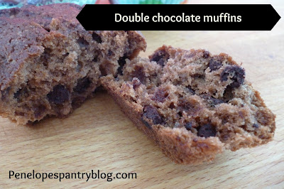 Penelope's Pantry: Double chocolate muffins