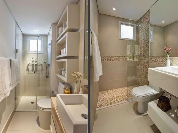 Banheiros Pequenos 5 Dicas + Inspiração Decor  Blog Estilizada -> Banheiro Pequeno E Clean