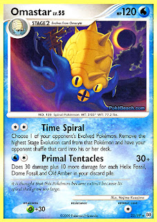 Omastar Pokemon Card Arceus Set