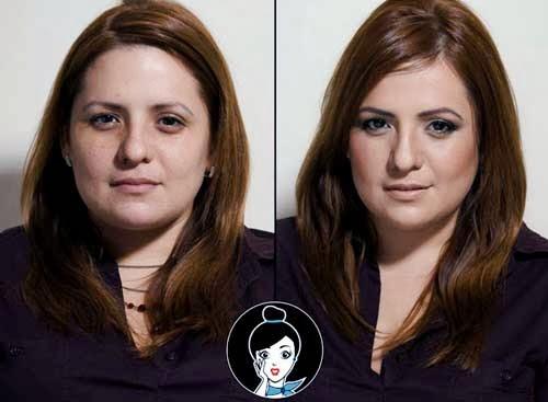 maquillaje en tonos marrones para chica castañas