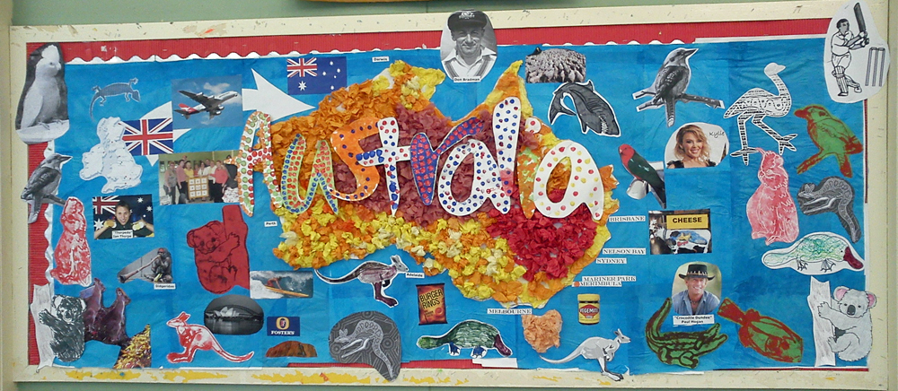 Craft and activities for all ages mencap our for Australian mural