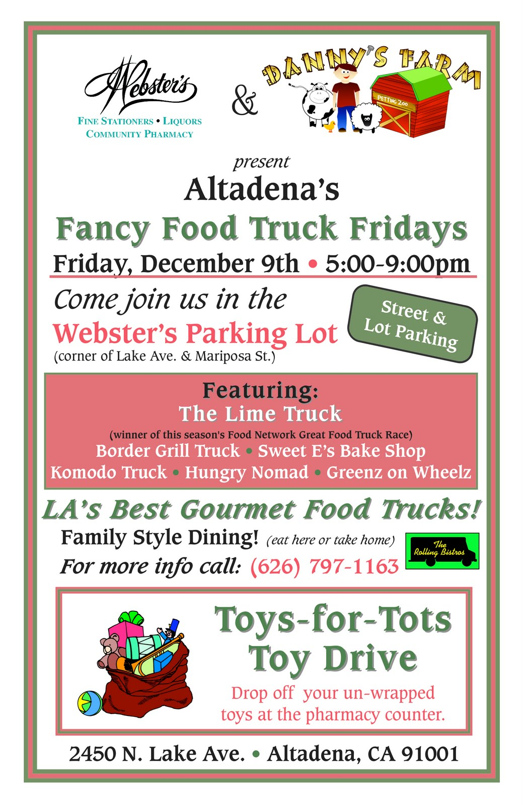 Toys For Tots Food : Mickie s zoo webster food truck event and toys for tots