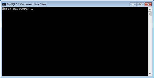 jendela mysql 5.7 command line client