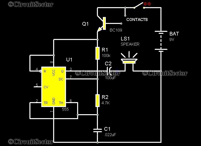 Electroniczzzz For U   Water Activated Sensor Alarm Using 555