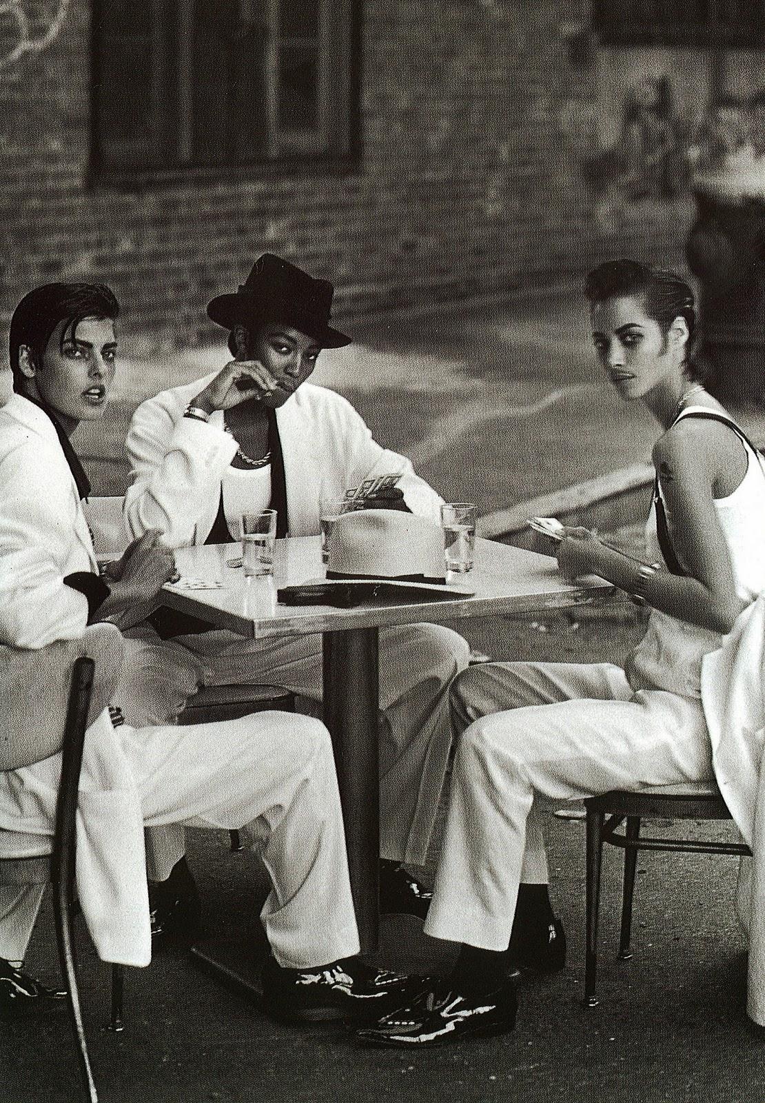 Linda Evangelista x Naomi Campbell x Christy Turlington Vogue Italia by Peter Lindbergh | February 1991