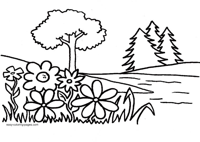 Tiny hearts blog lesson 10 intro to garden of eden and for Garden coloring page