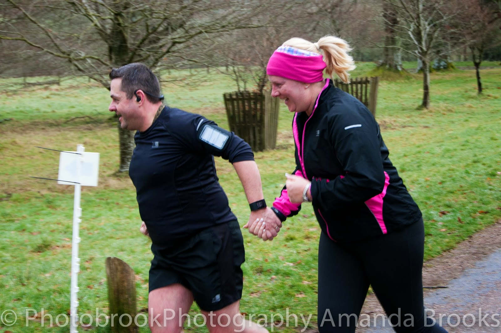 Runners at park run in Cornwall