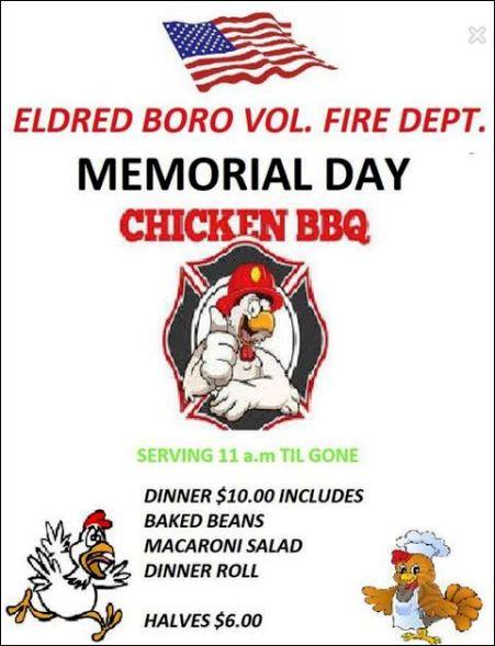 5-28 Chicken BBQ, Eldred Boro VFD