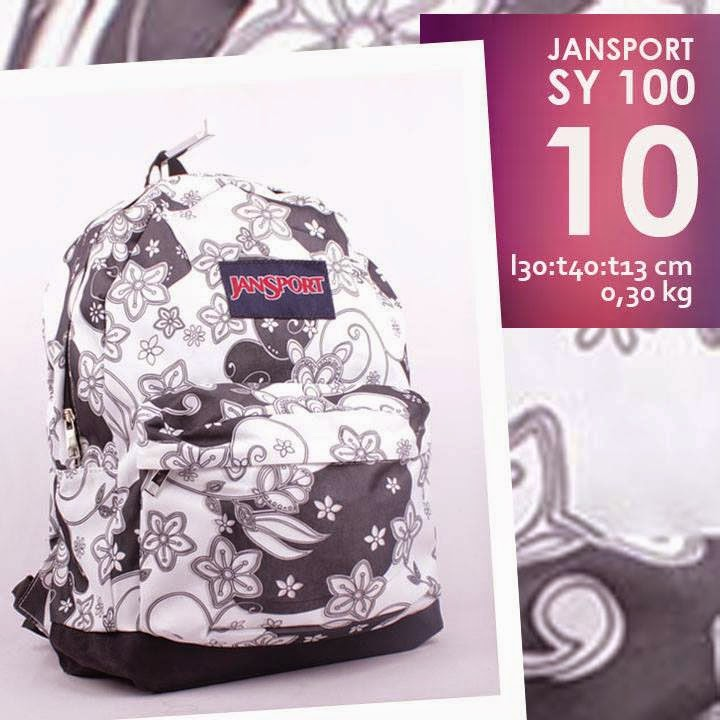 jual online tas ransel jansport murah motif bunga/ flower