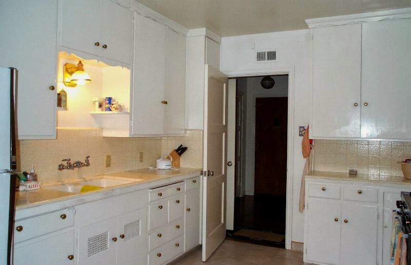 View of kitchen from laundry