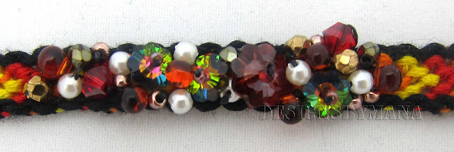 red beaded friendship bracelet detail