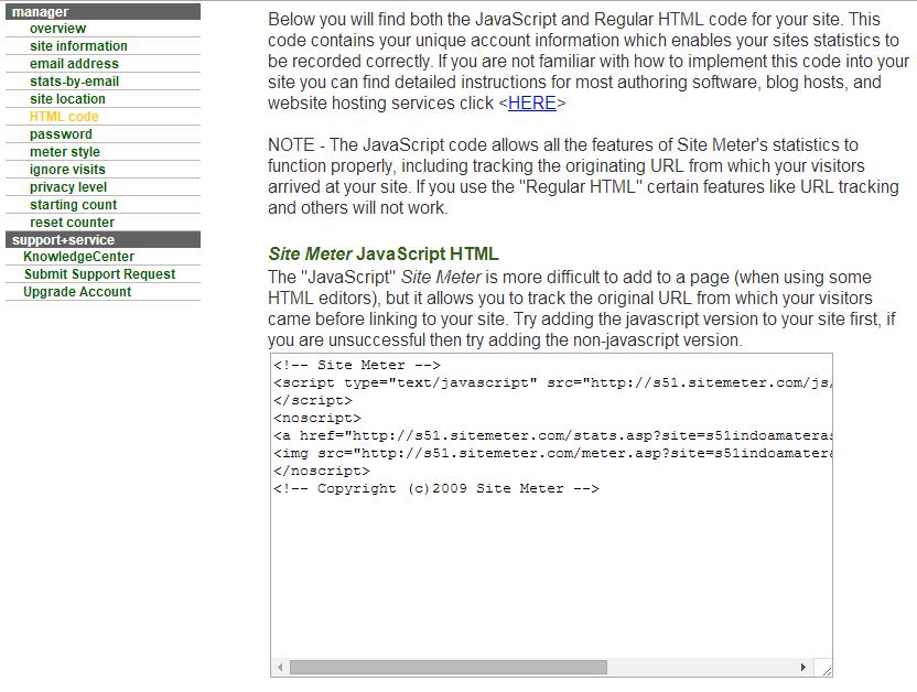 Mengetahui Traffict Jumlah Pengunjung Blog/ Website Dengan Sitemeter 6