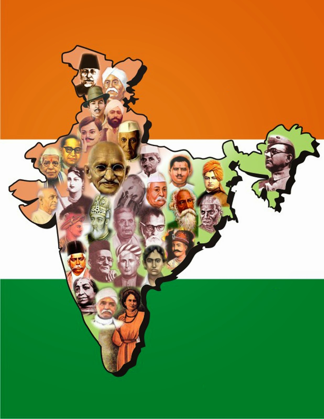 clip arts and images of india bharat mata