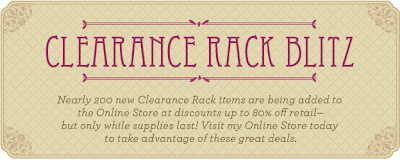 Stampin' Up! Clearance Rack Discounts up to 80% Off Retail