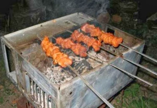 funny picture: computer case used as a barbecue