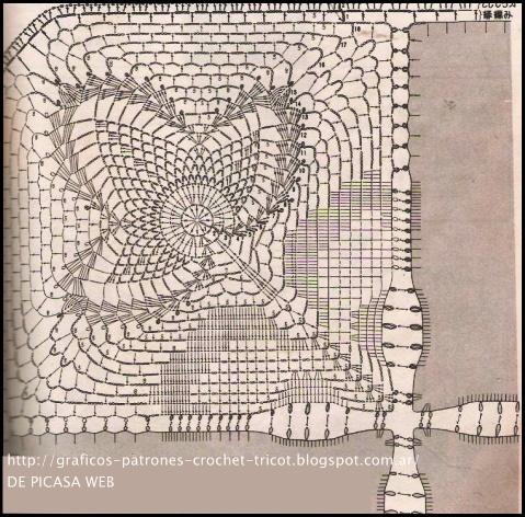 CROCHET - GANCHILLO - PATRONES - GRAFICOS