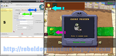 PLANTS VS ZOMBIES 2 CHEAT ENGINE