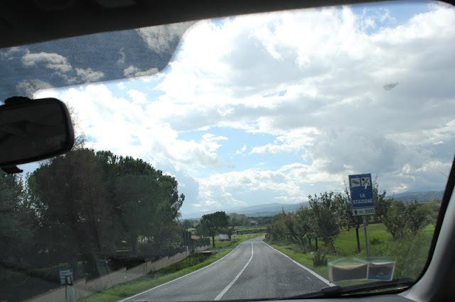 Driving through Tuscany