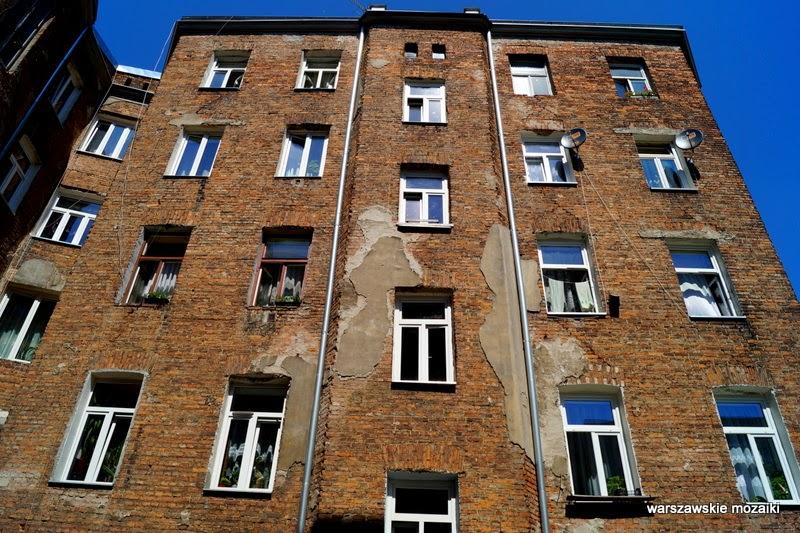 Warszawa Praga Północ warszawskie mozaiki Szmulki cegła podwórko