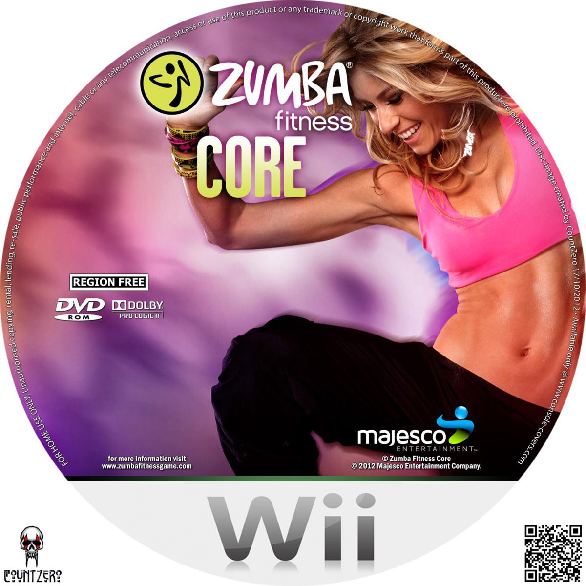 label zumba fitness core wii gamecover capas customizadas para dvd e bluray. Black Bedroom Furniture Sets. Home Design Ideas