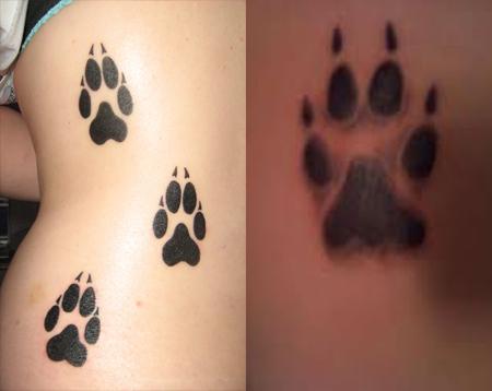 tatto paw print tattoos. Black Bedroom Furniture Sets. Home Design Ideas