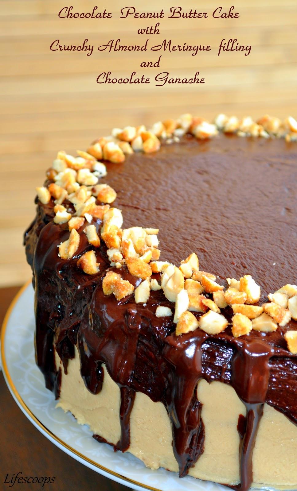 Crunchy Chocolate Peanut Butter Cake Recipe