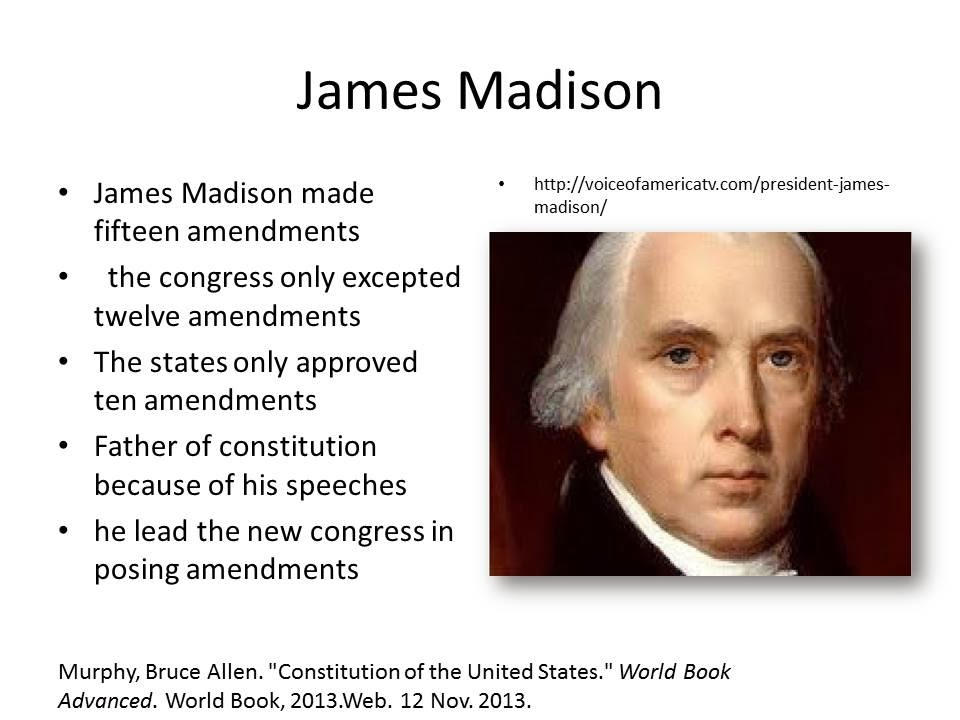 former president james madisons prediction of the fall of the soviets Picking a past president to lead if you could choose any former us president to lead this country now james madison for president.