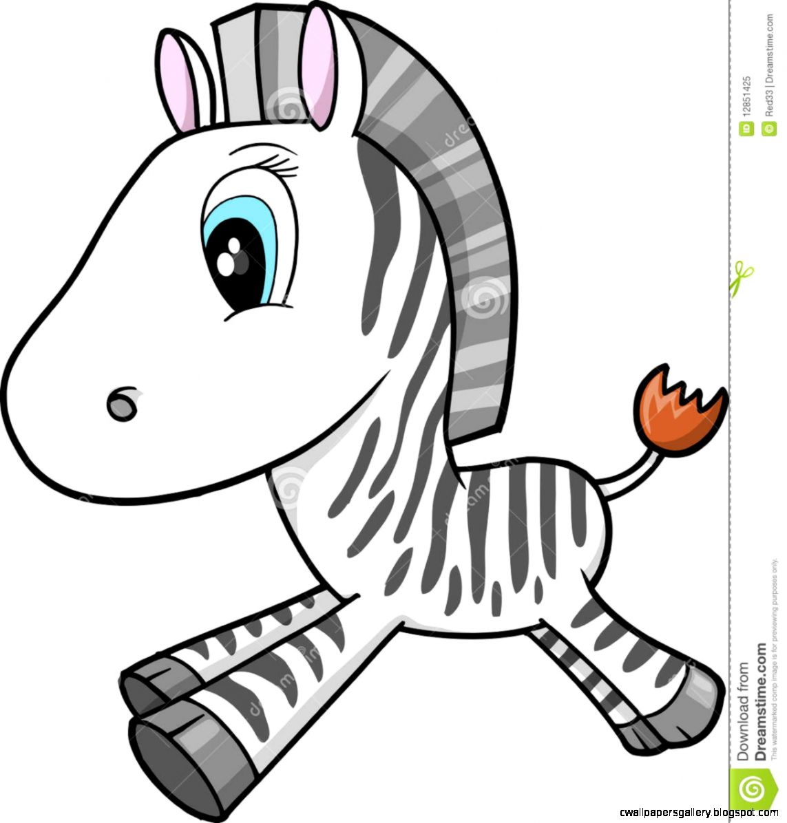 Cute Zebra Drawing  Best Animals Galleries